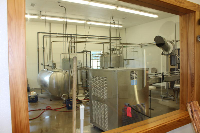 The dairy processing plant at Ocheesee Creamery makes butter, yogurt and milk.