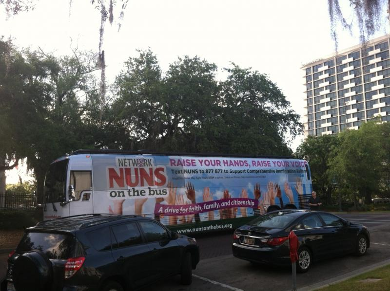 Nuns on the Bus roll into Tallahassee