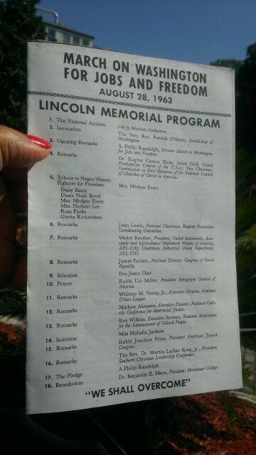 A Copy of the original program for the 1963 March On Washington
