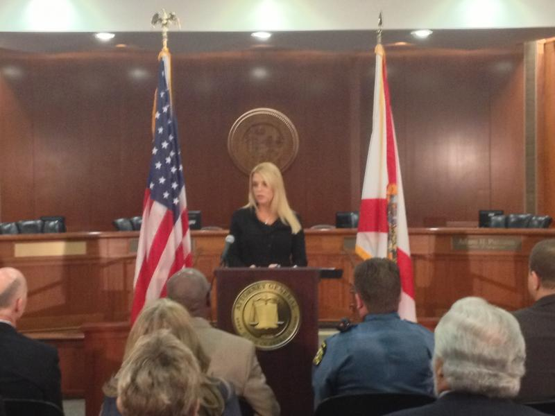 Florida Attorney General Pam Bondi at a conference for National Crime Victims Week last April.