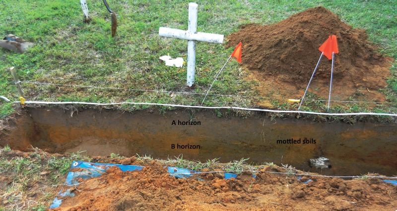An example of a trench University of South Florida researchers dug last year to identify the burial shafts, which indicated an unmarked grave, they will soon be digging up to find the remains.