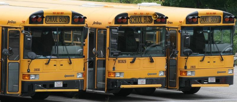 Alachua County officials say the thieves cut through a fence and hotwired two school buses.