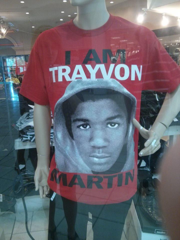 Trayvon Martin t-shirts are being sold in many retail stores across the state including Tallahassee's Top Fashion.