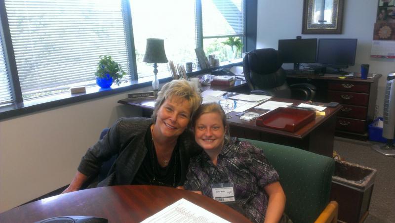 APD Director Barbara Palmer with Ashley Martin