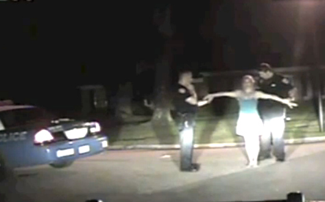 A snapshot of video taken during Christina West's DUI arrest
