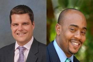 Representative Matt Gaetz (R-Shalimar) and Representative Alan Williams (D-Tallahassee)