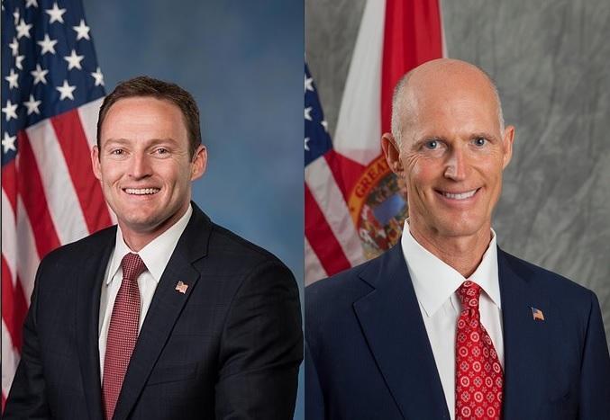 Congressman Patrick Murphy (D-FL) and Governor Rick Scott