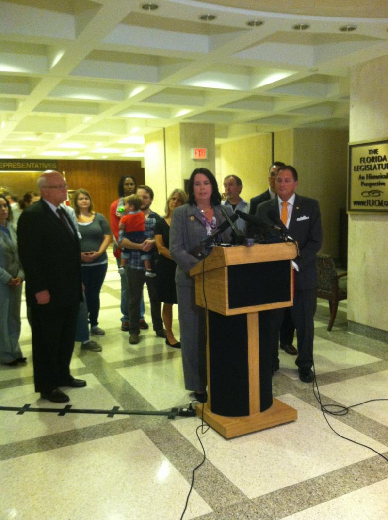 "Senator Kelli Stargel (R-Lakeland) and Representative Larry Ahern (R-Seminole) held a press conference Wednesday about a bill they filed called the ""Unborn Victims of Violence Act."""