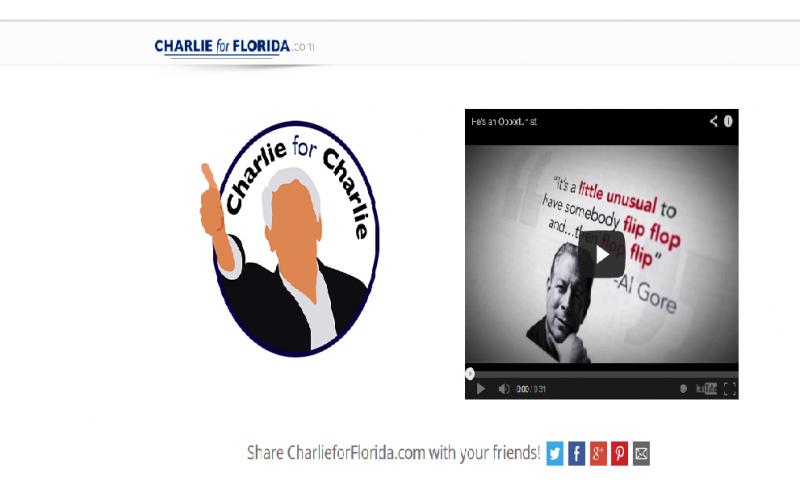 The Republican Party of Florida has created a parody website for  Charlie Crist, charlieforflorida.com