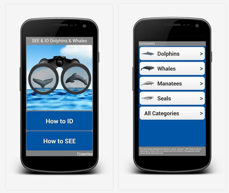 "The ""See & ID Dolphins & Whales"" Smartphone app"