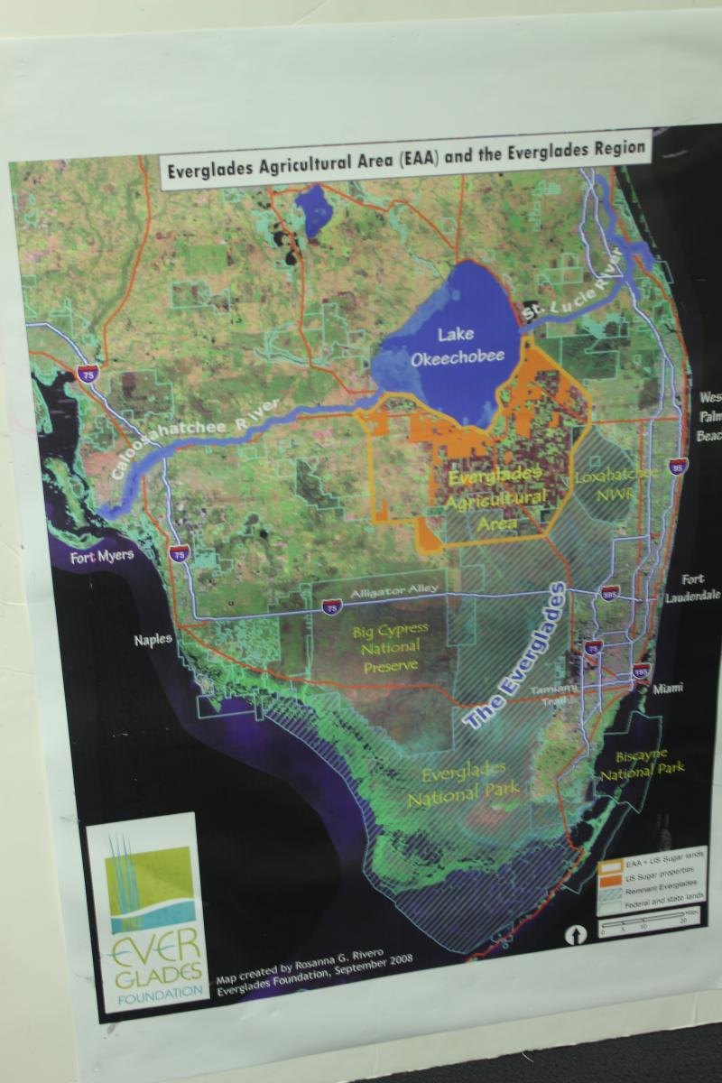 A map highlighting South Florida's hydrology