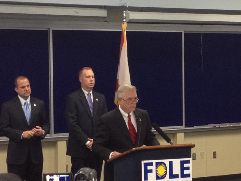 FDLE Commissioner Gerald Bailey annouced the new arrests in a press conference Thursday.