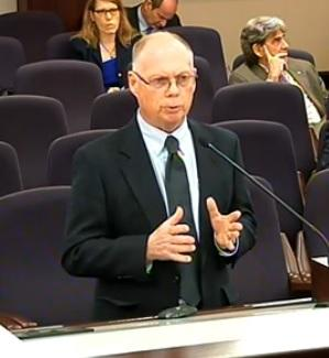 Dr. John Trefry, the Marine and Environmental Systems Professor at Florida Institute of Technology, is making a presentation before the Senate Environmental Preservation Committee Wednesday.