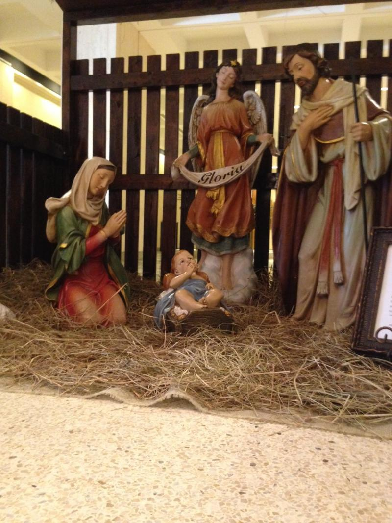 Christmas nativity scene at the Florida Capitol