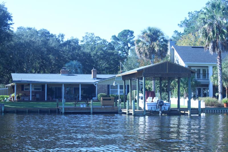 One of hundreds of homes on the banks of the St. Johns River in Jacksonville