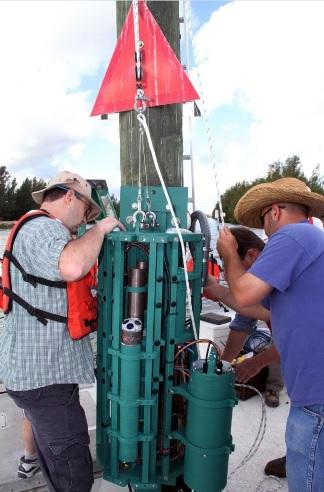 FAU Harbor Branch Institute researchers are using a LOBO, or Land/Ocean Biogeochemical Observatories, to help measure water quality in real-time in the Indian River Lagoon. FAU has so far purchased two. They'd like funds for more.
