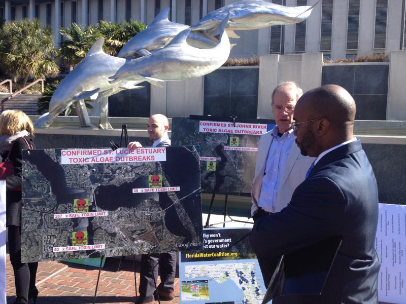 Representative Alan Williams (D-Tallahassee) joined environmentalists in Waller Park to call for water restoration.