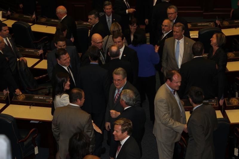 Florida's House Chambers were filled with current and former politicians and party leaders Monday night.