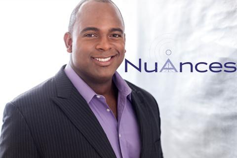 Nuances logo and Ryan Speedo Green