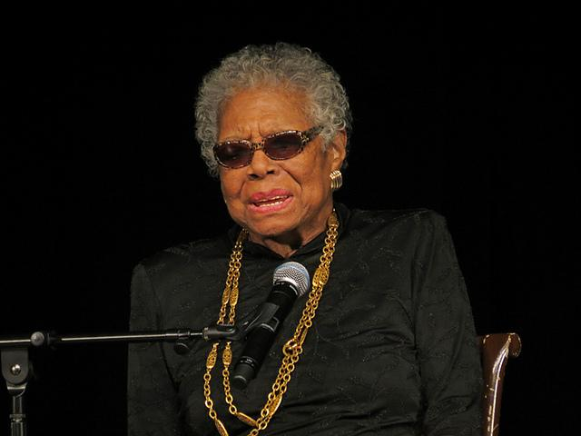 Dr. Maya Angelou during a talk at York College in 2013