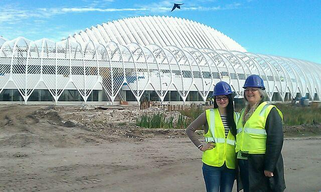Natalie Ekdahl and her mom tour Florida Polytechnic's campus