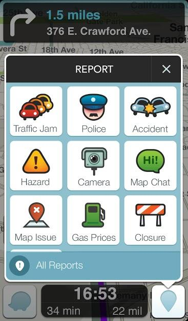 Waze screen shot