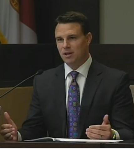 House Speaker Will Weatherford takes the stand during the redistricting trial