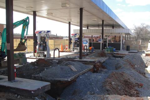 gas station under construction