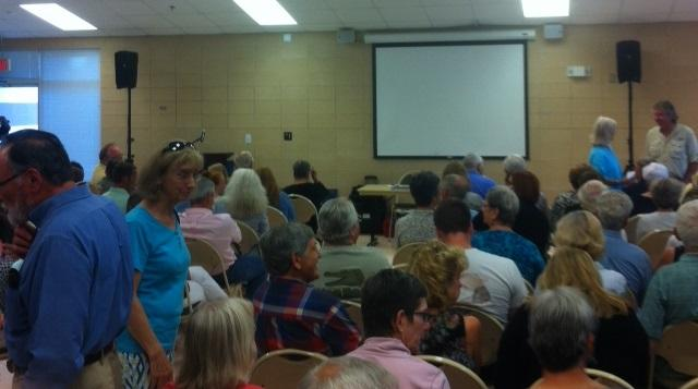 Local citizens gather at the Woodville Community Center