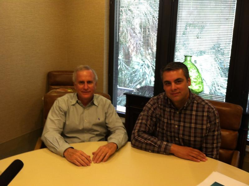 Tom  Jones (left) and Christian Spilker (right) with Collier Resources Company