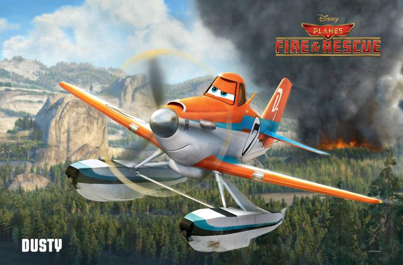 "Dusty Crophopper, the world famous air racer, is now learning to fight wildfires with veteran land-and-aircraft fire crews in ""Planes: Fire and Rescue,"" the sequel of Disney's ""Planes."""