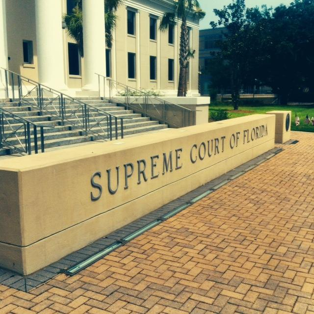 This is the entrance to The Florida Supreme Court.