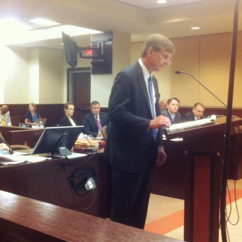Here's John Devaney arguing before Judge Terry Lewis