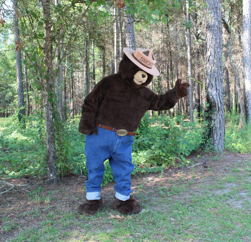 Here's Smokey Bear at Lake Talquin State Forest