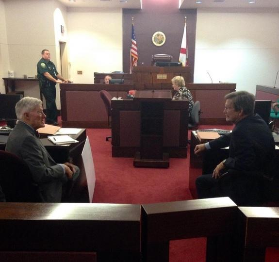 lawyers talking in court
