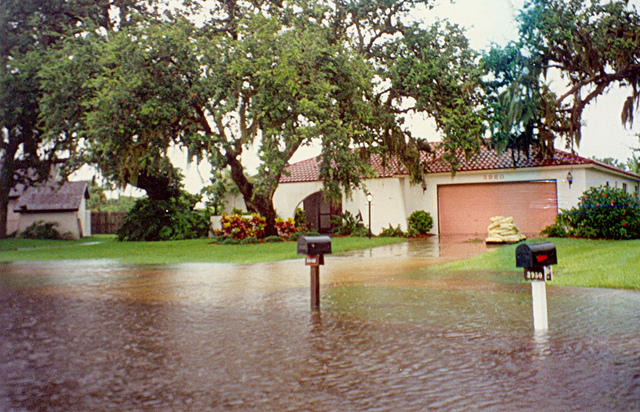 Flooding in Florida after a heavy storm.