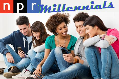 npr logo and millennials
