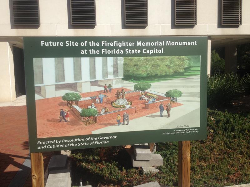 An artist rendering of the future Fallen Firefighter Memorial