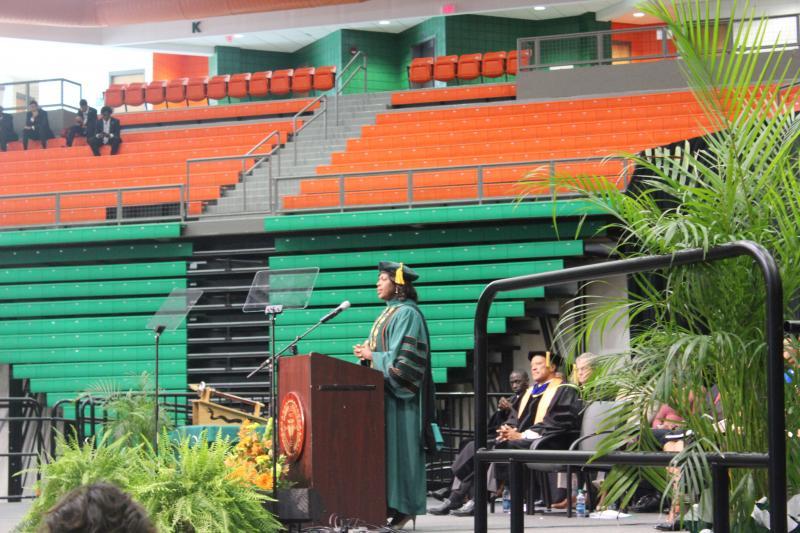 Elmira Mangum speaking