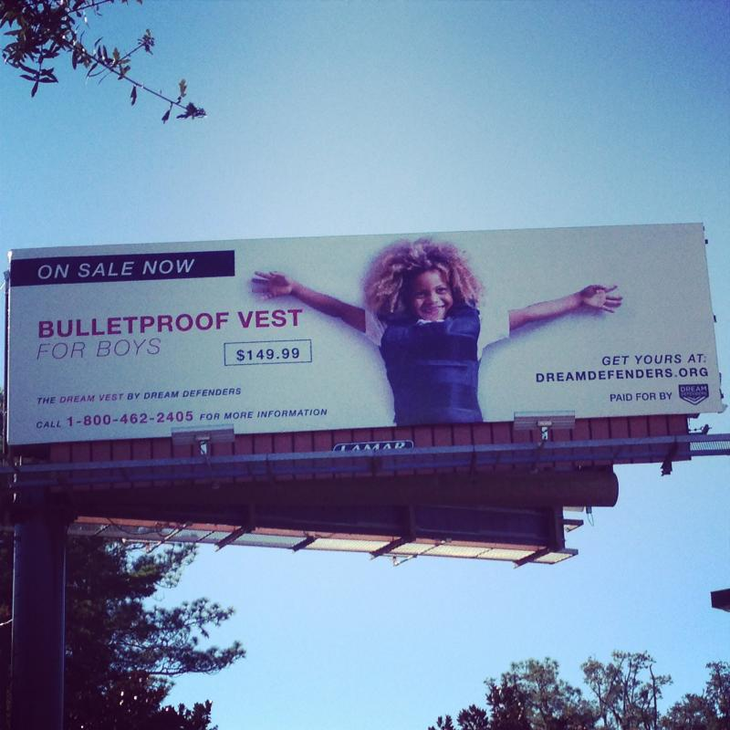 """Bulletproof Vest"" billboard"