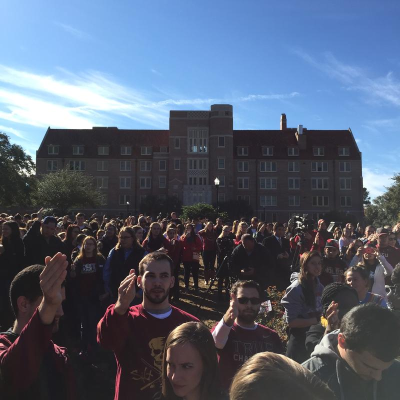 Students on Florida State's Landis Green.