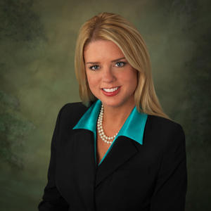 Florida Attorney General Pam Bondi spoke Wednesday at an Associated Press media event at the Capitol.