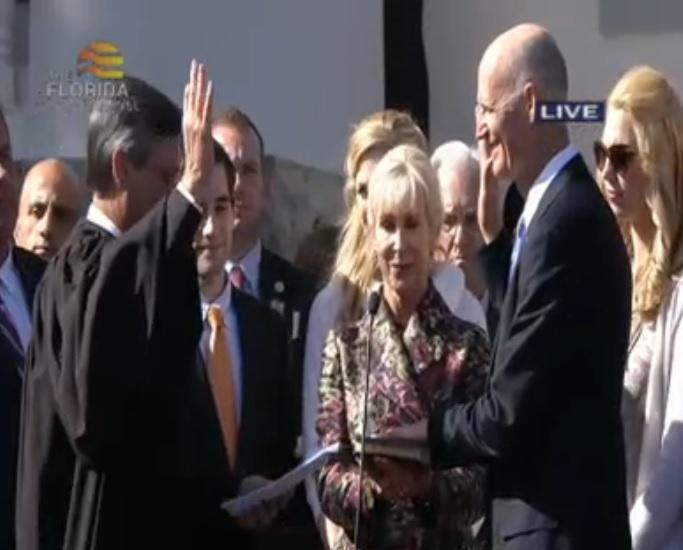 Gov. Rick Scott sworn in for his second term Tuesday.