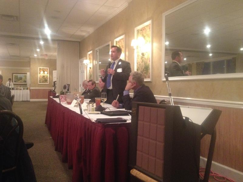 """One of the panelists, Florida Carry Lobbyist Eric Friday, speaking during the """"Mental Health, Guns, and the Law"""" forum."""