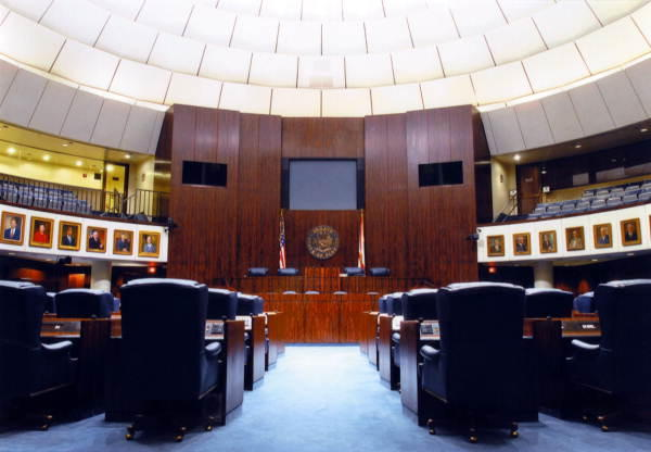 The inside of the Florida Senate Chamber