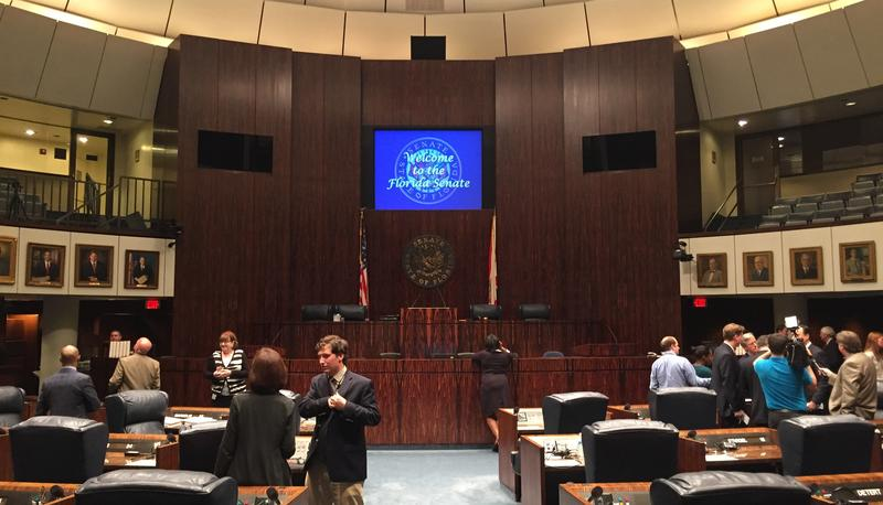 The Florida Senate chambers Tuesday.