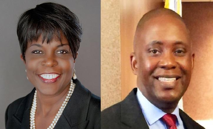 FAMU President Elmira Mangum and FAMU Board of Trustees Chairman Rufus Montgomery