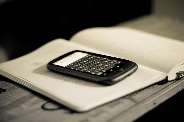 a cell phone on desk