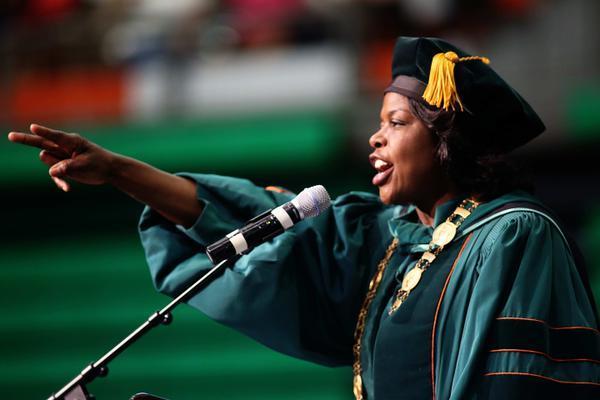 President Elmira Mangum.