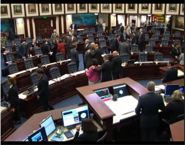 "The Florida House approved the congressional ""base map"" Tuesday."